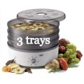 stockli dehydrator with 3 steel trays and no timer